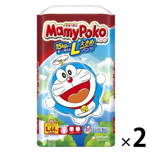 マミーポコ おむつ パンツ L 9〜15kg 新作入荷!! チャーム 1セット 高品質新品 44枚入×2パック ユニ ドラえもん