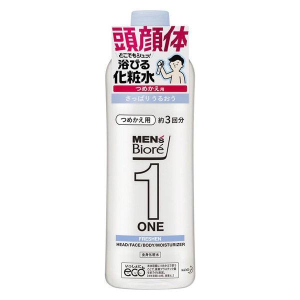 メンズビオレ ONE 髪顔体 人気 おすすめ 全身化粧水スプレー さっぱり 詰め替え 全身のケアこれ1本 340ml 激安☆超特価