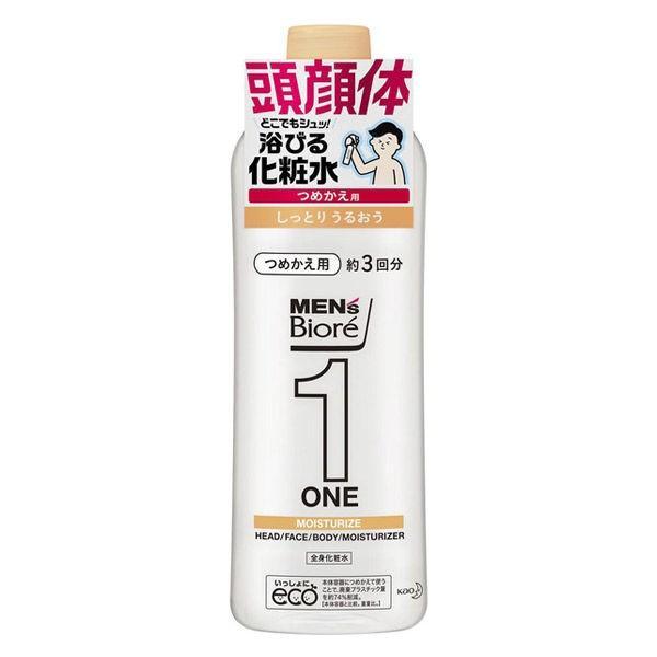 メンズビオレ ONE 髪顔体 全身化粧水スプレー しっとり 詰め替え 日時指定 ブランド買うならブランドオフ 340ml 全身のケアこれ1本
