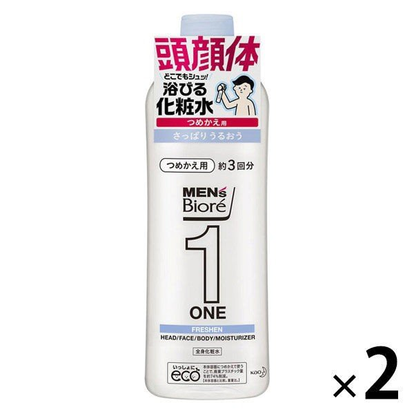 メンズビオレ ONE 髪顔体 全身化粧水スプレー さっぱり 340ml 数量限定 人気ショップが最安値挑戦 詰め替え 2個 全身のケアこれ1本