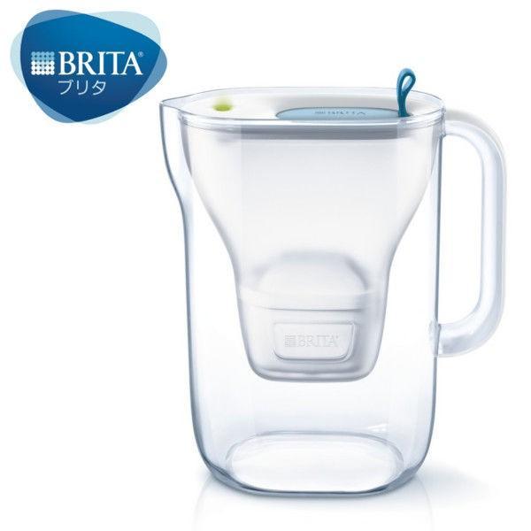 ブリタ BRITA 浄水器 ポット型 ピッチャー 1.4L スタイル プラス カートリッジ 1個付き 日本正規品 贈呈 水分補給 マクストラ 新作続 ブルー