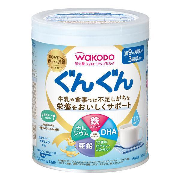 送料無料/新品 日本限定 9ヵ月頃から WAKODO 和光堂 フォローアップミルク ぐんぐん 1缶 小缶 300g アサヒグループ食品 粉ミルク