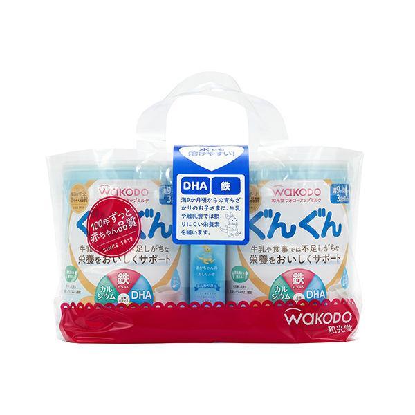 9ヵ月頃から WAKODO 和光堂 贈り物 フォローアップミルク 完全送料無料 ぐんぐん おまけ付き アサヒグループ食品 大缶 粉ミルク 830g×2缶パック
