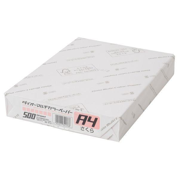 大王製紙 ダイオーマルチカラープリンタ用紙 86413 A4 500枚入 さくら色 1冊 別倉庫からの配送 贈答品