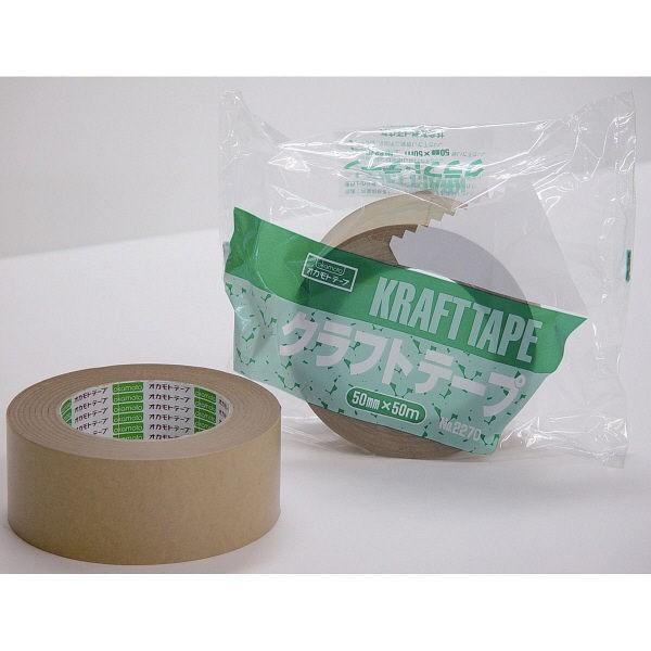 ガムテープ クラフトテープ No.2270 0.14mm厚 奉呈 1巻 海外並行輸入正規品 50mm×50m オカモト クリーム