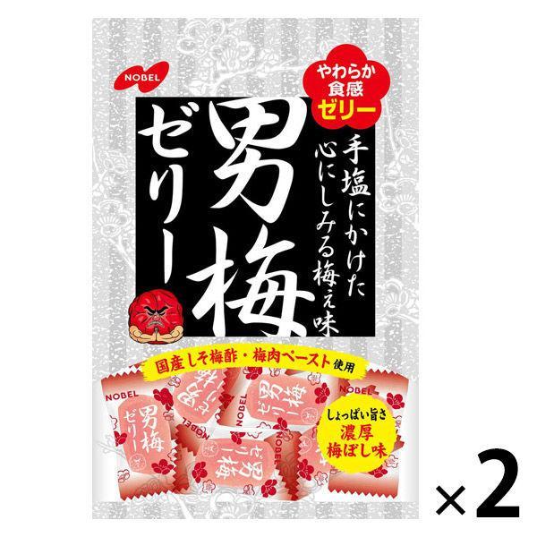 ノーベル製菓 メーカー公式 男梅ゼリー 2個入 1セット 日本正規代理店品