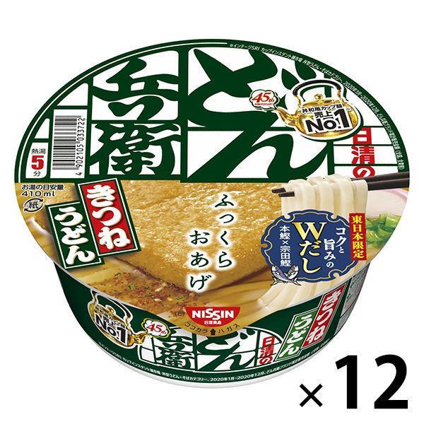 日清食品 日清のどん兵衛 きつねうどん 東日本版 人気 12個入り 期間限定特別価格