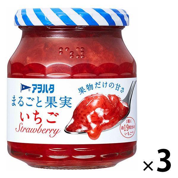 アヲハタ まるごと果実 いちご 激安特価品 定番の人気シリーズPOINT(ポイント)入荷 1セット 250g 3個