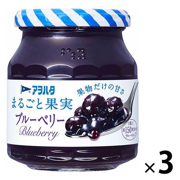 アヲハタ 営業 まるごと果実 ブルーベリー 3個 新登場 1セット 250g