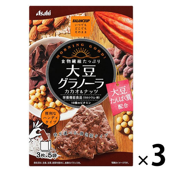 バランスアップ 大豆グラノーラ カカオ&ナッツ 1セット(3箱) アサヒグループ食品 その他 シリアル