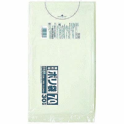日本サニパック 業務用ポリ袋 白半透明 厚口 1パック 30枚入 人気ショップが最安値挑戦 70L オンラインショップ N-7H