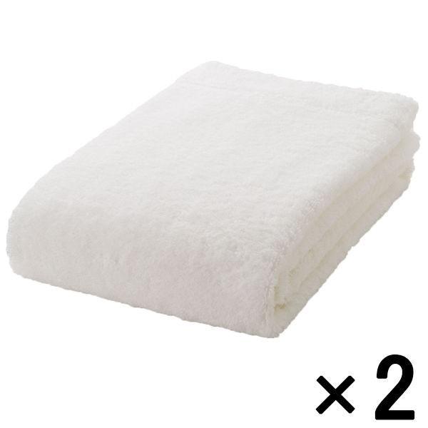 まとめ買いセット 無印良品 綿パイルスモールバスタオル 新品■送料無料■ 中厚手 良品計画 2枚 60×120cm 新登場 オフ白