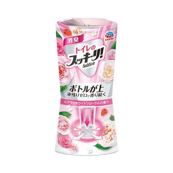 トイレ 正規販売店 消臭剤 芳香剤 トイレのスッキーリ アース製薬 1個 400ml Eホワイトフローラルの香り 正規逆輸入品