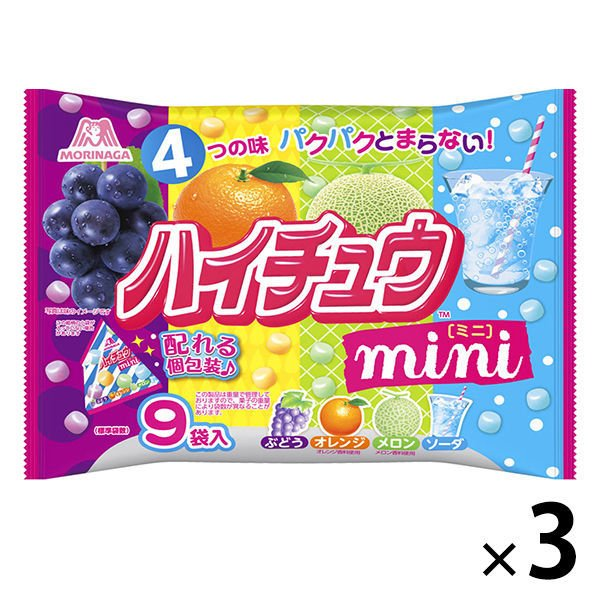 森永製菓 ハイチュウミニプチパック 正規品送料無料 評判 1セット 3袋