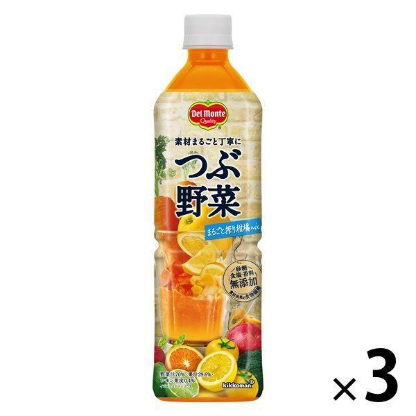 キッコーマン飲料 デルモンテ 40%OFFの激安セール つぶ野菜まるごと搾り柑橘mix 900g 1セット 3本 AL完売しました。 野菜ジュース