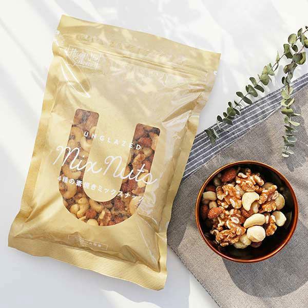 LOHACO限定 4種の素焼きミックスナッツ 送料無料 激安 お買い得 キ゛フト 400g たっぷり大容量 食塩無添加 油不使用 1袋 5☆大好評