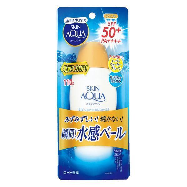 スキンアクア スーパーモイスチャージェル SPF50+ ロート製薬 PA++++ 予約 売り込み 110g