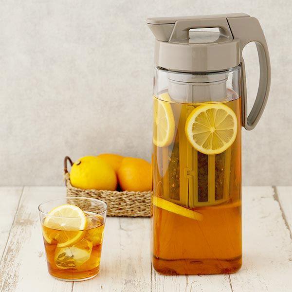 ロハコ限定 タテヨコ イージーケアピッチャー 2.1L 茶こし付 お気に入 冷水筒 トレンド 1個 岩崎工業