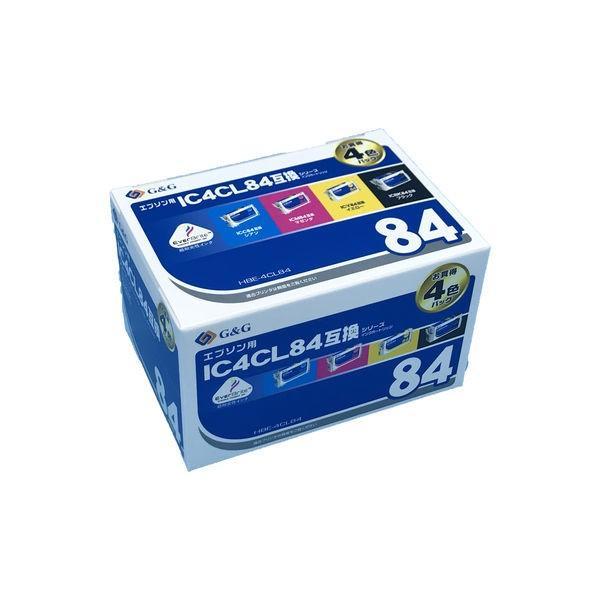 エプソン用 G&G 互換インク HBE-4CL84 4色パック(大容量)(IC4CL84互換)