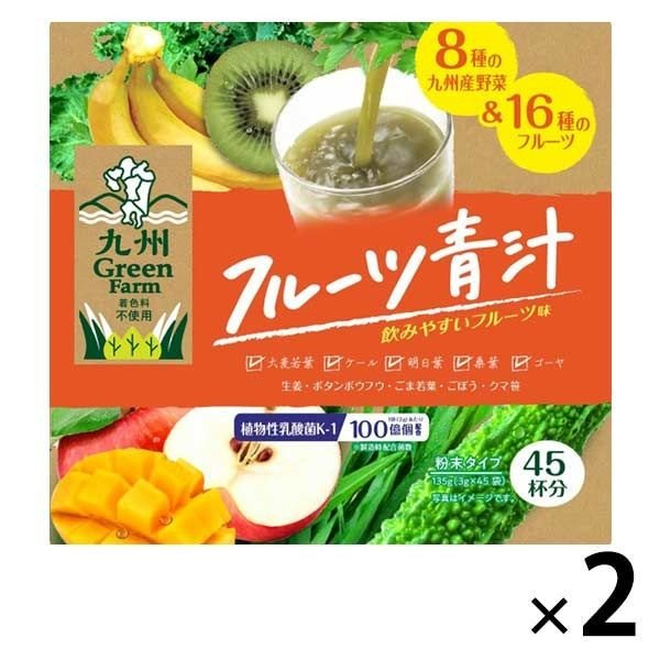 新日配薬品 フルーツ青汁 購入 2箱 45包入 通信販売 青汁