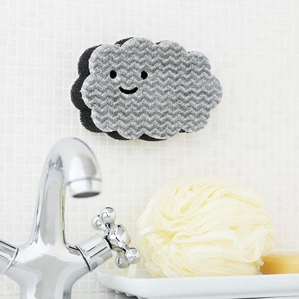 ペタッ と貼りつくスポンジ お風呂用 バスクリーナー 高い素材 オリジナル キャンペーンもお見逃しなく LOHACO 1個 ロハコ