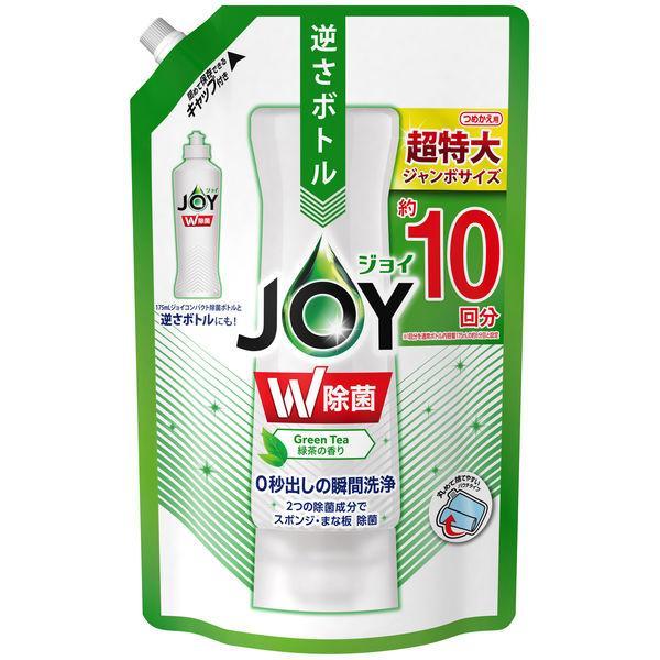 除菌ジョイコンパクト JOY 緑茶の香り 店内全品対象 お金を節約 詰め替え ジャンボサイズ Pamp;G 食器用洗剤 1個 1330ml