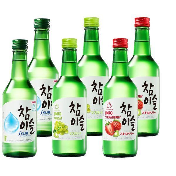 定番から日本未入荷 チャミスル3種類飲み比べセット 蔵 6本 定番のFresh マスカット それぞれ2本ずつ ストロベリー クリスマス