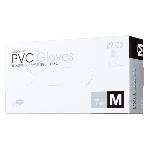 使いきりプラスチック手袋 保証 粉なし M クリア 即納最大半額 1箱 100枚入 川西工業