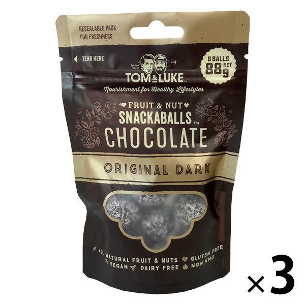 お気に入 トム ルーク フルーツ ナッツチョコレートスナックボール 新品■送料無料■ 3袋 オリジナルダーク 88g