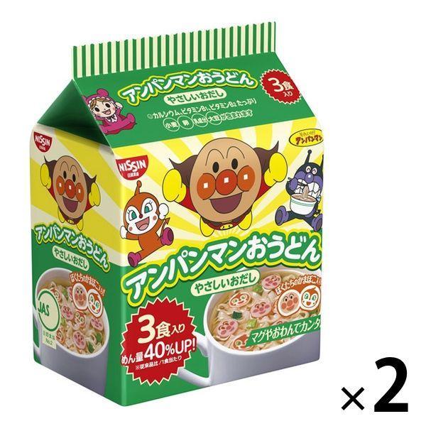 日清食品 ファクトリーアウトレット アンパンマンおうどん やさしいおだし 売買 3食入 2個