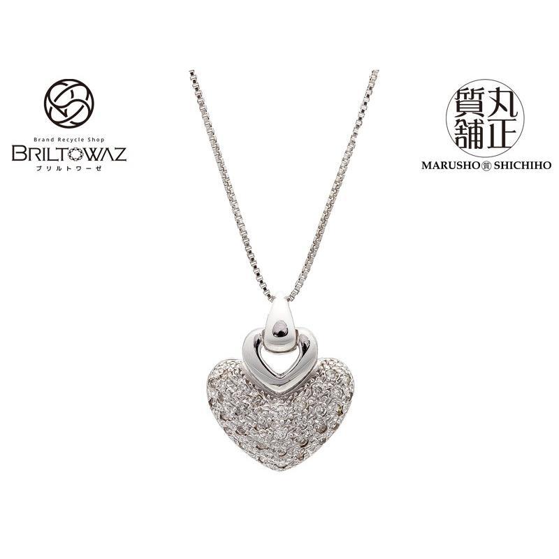 【新作からSALEアイテム等お得な商品満載】 K18WG ネックレス ダイヤペンダント 0.30ct 最大36/40cm 4.9g ホワイトゴールド WG ハート型 ダイヤモンド ジュエリー アクセサリー (573382), 上越市 2c80956d