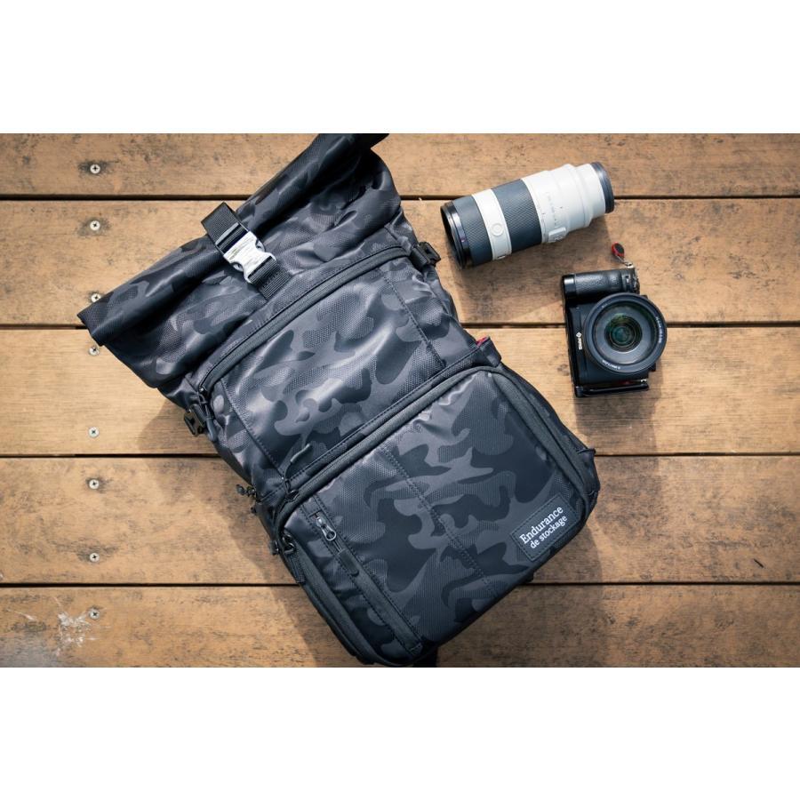 カメラバッグ 迷彩 リュック 一眼レフ 大容量 おしゃれ ミラーレス Endurance Ext  カメラバック カメラリュック バックパック|y-op|10