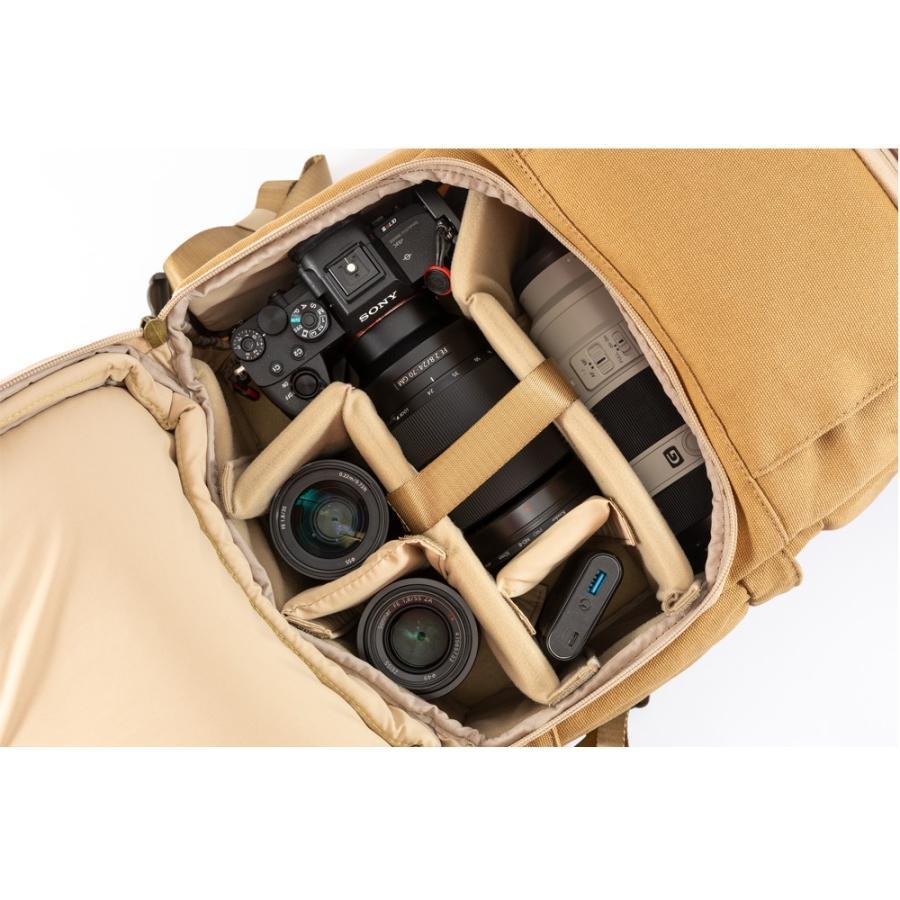 カメラバッグ 帆布 リュック 一眼レフ 大容量 おしゃれ ミラーレス Endurance Ext サンドベージュ カメラリュック 女子|y-op|08