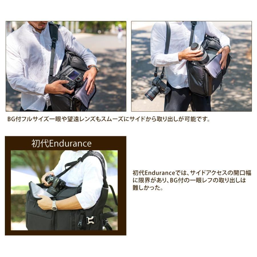 カメラバッグ 一眼レフ リュック 大容量 Endurance(エンデュランス)  HG ブラック迷彩 カメラバック カメラリュック バックパック|y-op|15