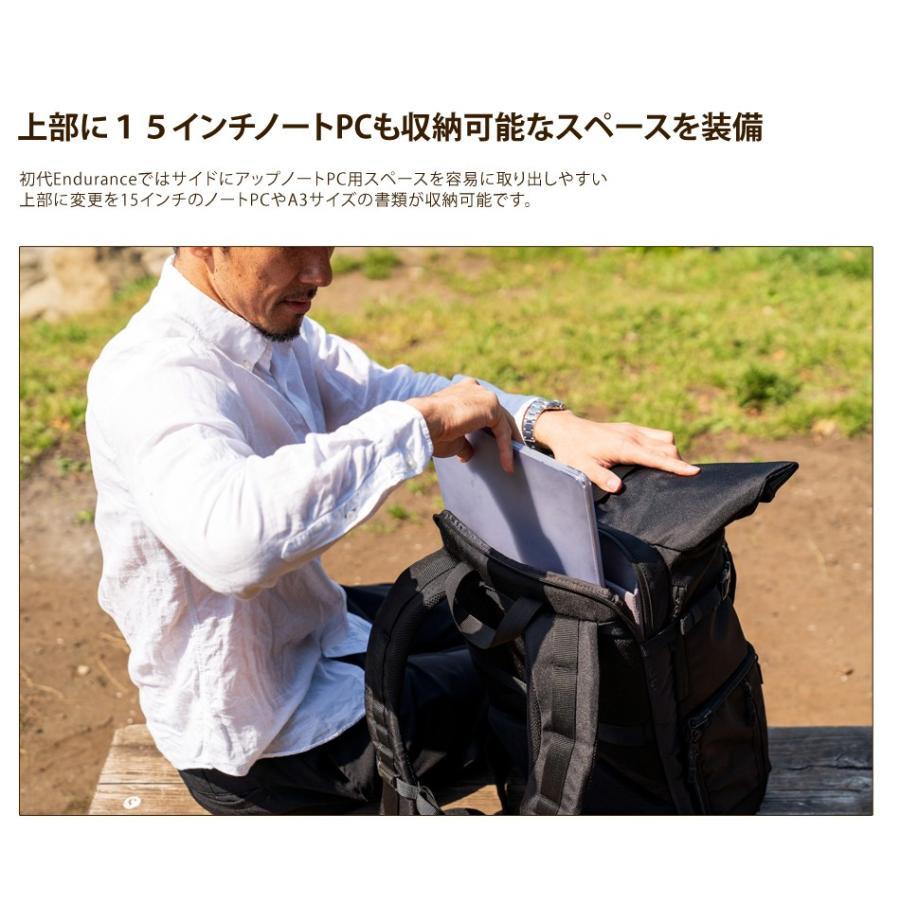 カメラバッグ 一眼レフ リュック 大容量 Endurance(エンデュランス)  HG ブラック迷彩 カメラバック カメラリュック バックパック|y-op|21