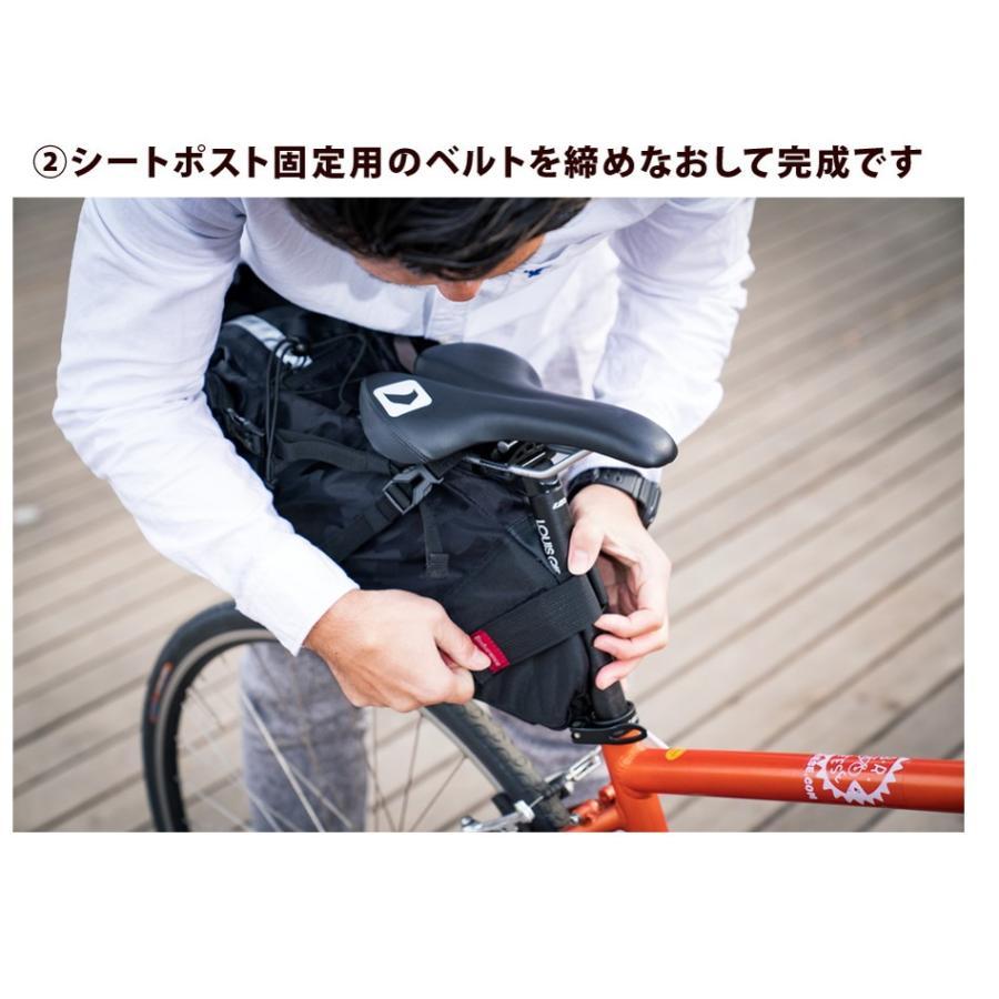 Endurance(エンデュランス) リュックにもなる大容量サドルバッグ ロードバイク クロスバイク ミニベロ MTB|y-op|17