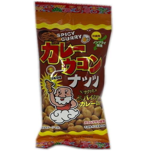 カレーウコンナッツ スパイシーカレー味 40g 4個までメール便可 y-sansei-shop