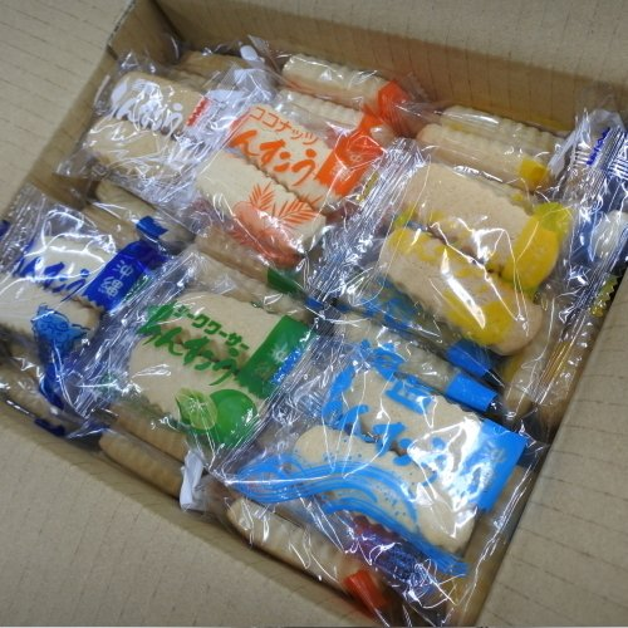 おまかせ福袋ちんすこう 13種類 200個(100袋)×1箱 小黒糖付き|y-sansei-shop