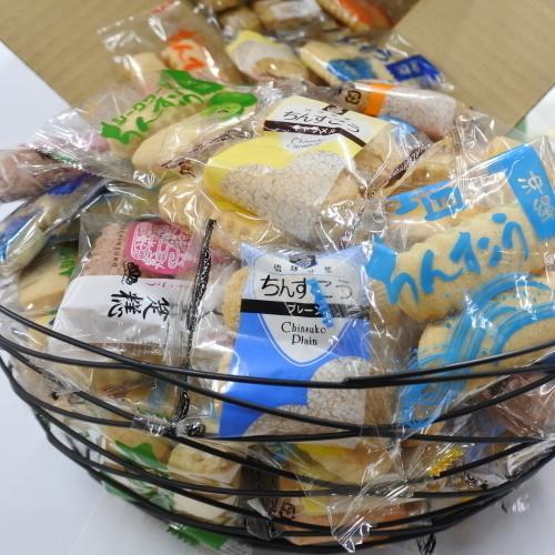 おまかせ福袋ちんすこう 13種類 200個(100袋)×1箱 小黒糖付き|y-sansei-shop|02