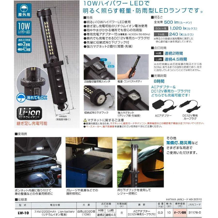 在庫有り ハタヤ 充電式 Ledジョーハンドランプ Lw 10 Lw10 屋外用防雨型 10w 白色led20個 Hataya Lw 10 建材ステーション Yahoo 店 通販 Yahoo ショッピング