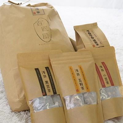 長浜市 ふるさと納税 無洗米コシヒカリ10kgと手間なしゴロゴロ雑穀米とノンカフェイン穀物茶3種類のセット|y-sf