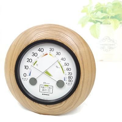 旭川市 ふるさと納税 置き掛け両用 木製 温湿度計 TM(快適表示付)