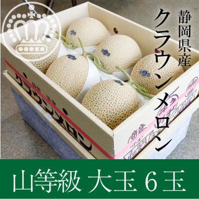 浜松市 ふるさと納税 静岡産 クラウンメロン 上(山クラス) 約1.4kg 6玉