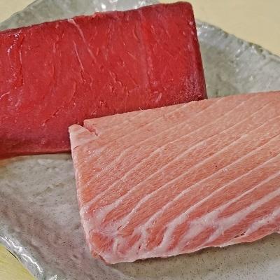 焼津市 ふるさと納税 『まぐろの魚二』天然南鮪大トロ·赤身約800gセット(a50-097)