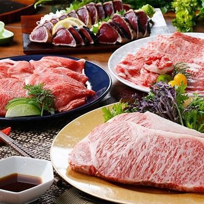 枕崎市 ふるさと納税 鹿児島県産A5等級黒毛和牛&鮪·鰹