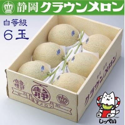 磐田市 ふるさと納税 クラウンメロン(白等級)6玉_281