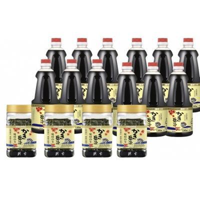 笠岡市 ふるさと納税 かき醤油1000ml&かき醤油味付のり詰め合わせ