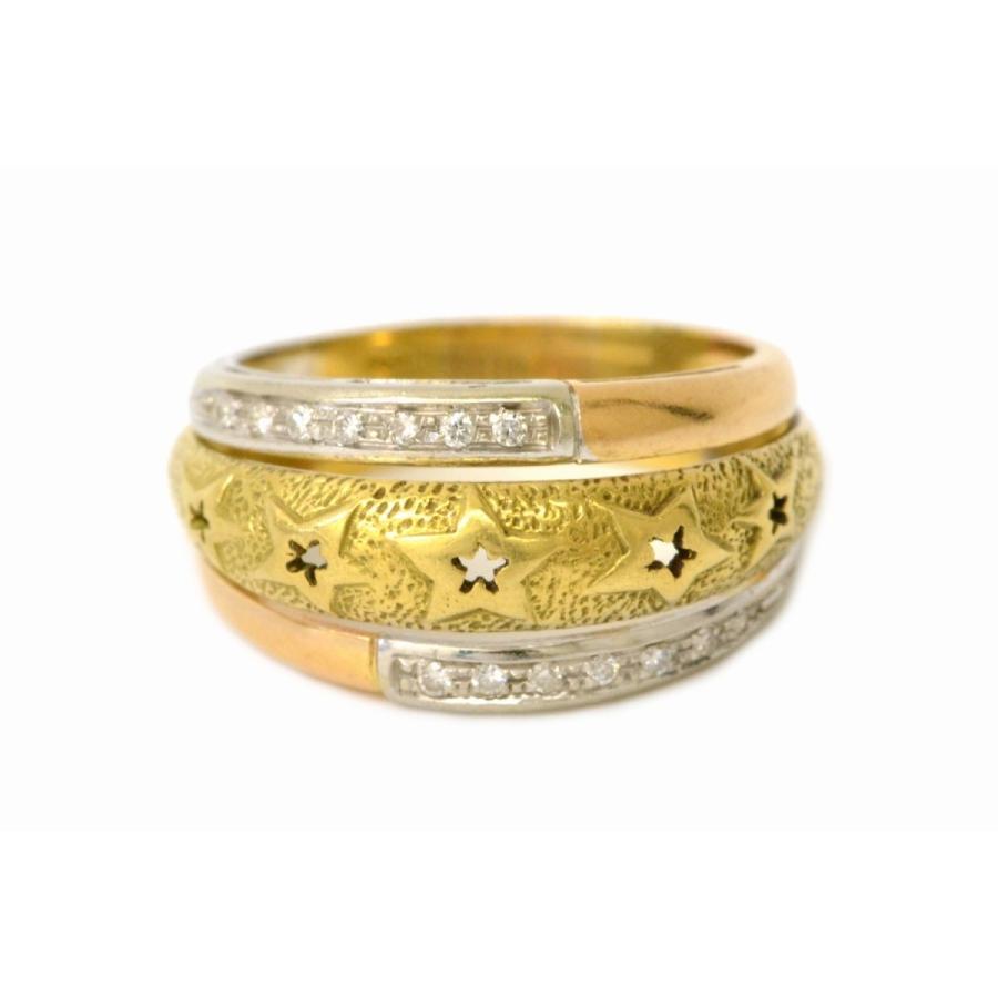 人気が高い 本物 スター 星 モチーフ スター 750 ダイヤモンド ダイヤ スリーカラー 750 K18 モチーフ リング 指輪 19号 イエローゴールド ホワイトゴールド ピンクゴールド, メイク ジャパン:e6b005e5 --- airmodconsu.dominiotemporario.com