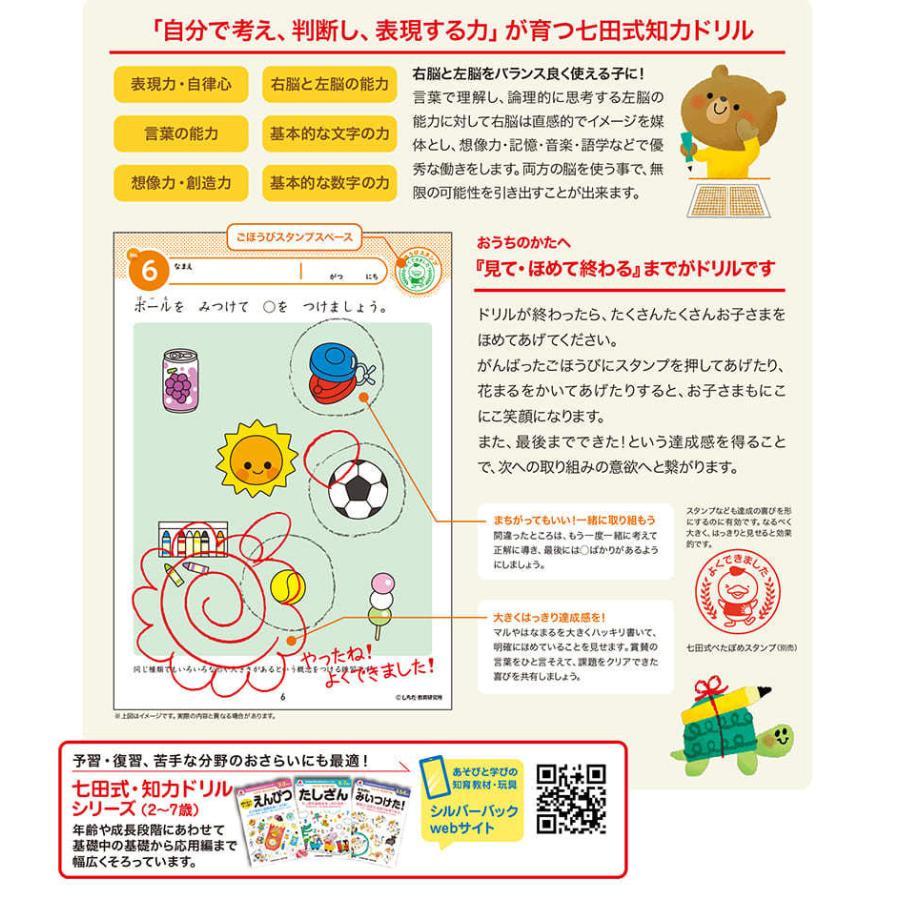 七田式・知力ドリル 2歳 3歳 ちえ できるかな プリント 子供 幼児 知育 教育 勉強 学習 右脳 左脳|y-silverback|06