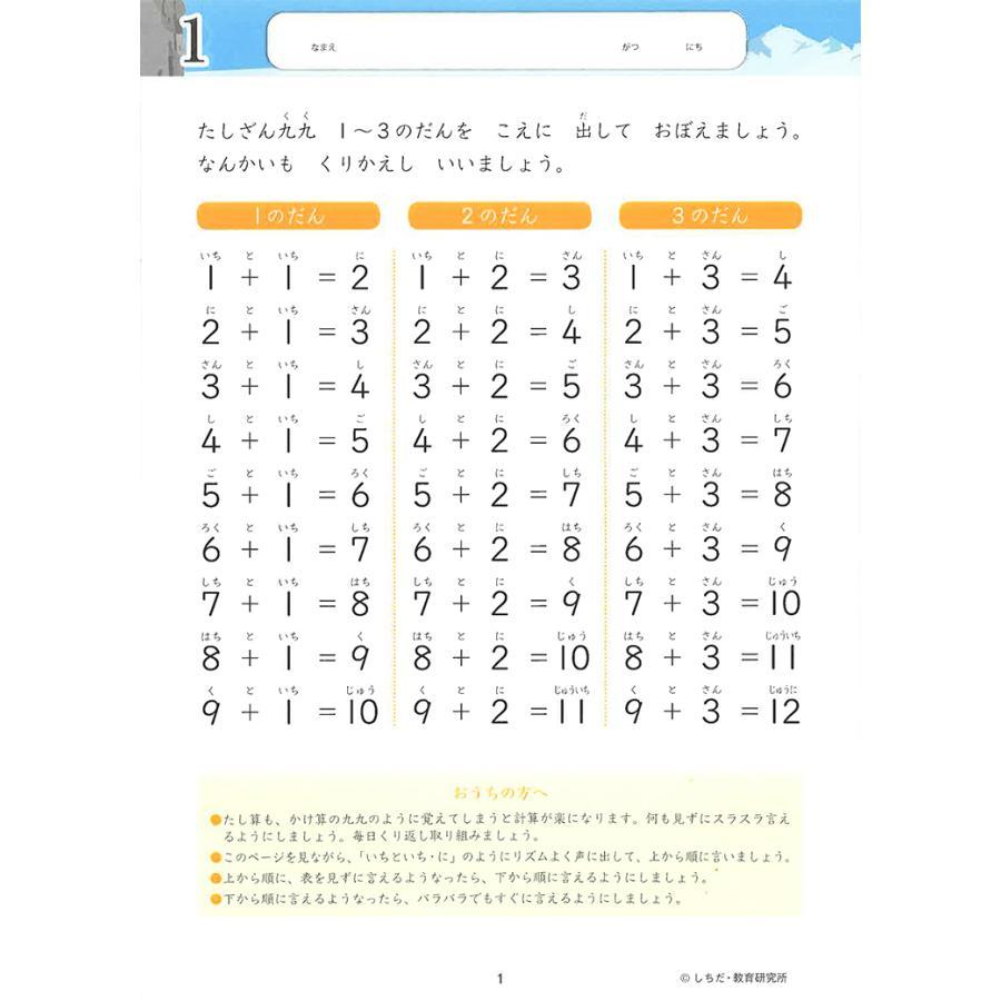 七田式・知力ドリル 6歳,7歳 たしざん プリント 算数 計算 数字 子供 幼児 知育 教育 勉強 学習 y-silverback 02